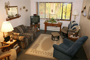 Photo of the interior of a HUD housing apartment for senior citizens in Wisconsin